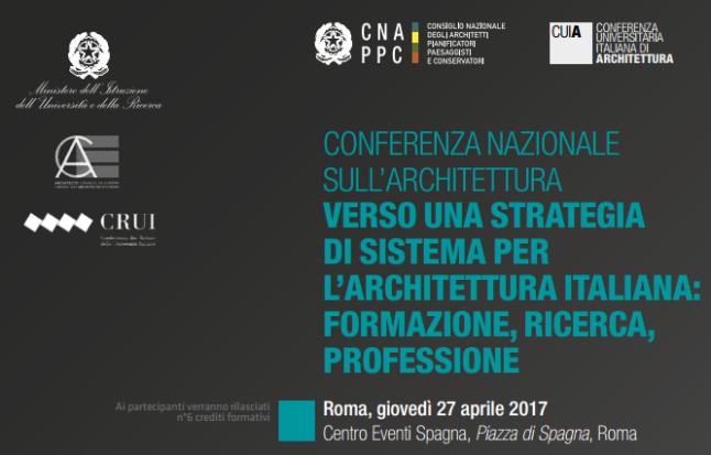 conferenza nazionale architettura 1