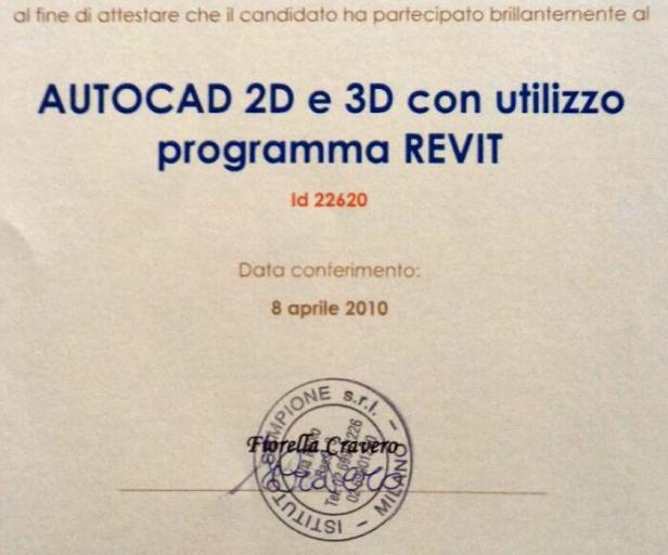 corso autocad 2d 3d revit